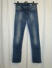 Women's REPLAY WV559Z PEARL straight stretch blue jeans W26 L32 great co LOVELY