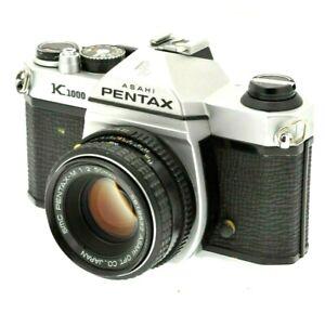 Pentax K1000 35mm SLR film Camera with Pentax 50mm lens - Film Tested