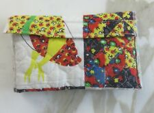 "Cute 6"" by 3.5 Fabric Wallet Handmade"