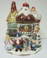 Fitz & Floyd Original Large Nutcracker Sweets Castle Cookie Jar 1992