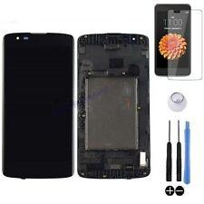 ECRAN LCD + VITRE TACTILE SUR CHASSIS BLOC COMPLET POUR LG K8 K350N DUAL 4G NOIR