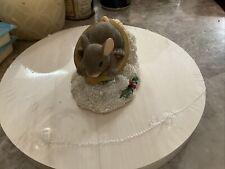 Sledding Nut Charming Tails 87124 Fitz & Floyd Dean Griff mouse Christmas A