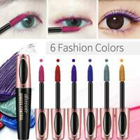 4D Mascara Silk Fiber Eyelash Waterproof Extension Lashes Makeup Eye V7G7