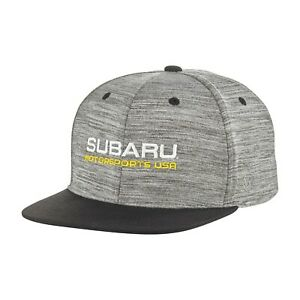 Genuine Subaru Motorsports USA Backstop Flat Bill Cap Rally Hat Impreza STI WRX
