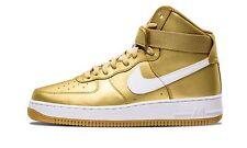 NIKE AIR FORCE 1 HIGH RETRO QS Hi Top Boots Fashion Liquid Gold - UK 11 (EUR 46)