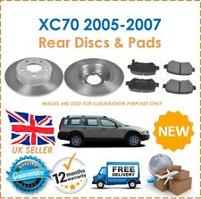 For XC70 Cross Country 2005-2007 Two Rear Solid 288MM Brake Discs & Brake Pads