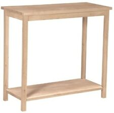 Home Living Room Wood Console Entryway Furniture Top Style Table Unfinished