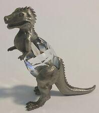Crystal Dinosaur Figurine - Pewter Dinosaur Miniature