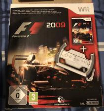 F1 Formula 1 One 2009 Game & Racing Wheel Box Set Nintendo Wii PAL Brand New