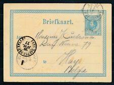 BRIEFKAART 5 CT. W. III AMSTERDAM - HUY BELGIE 28 JUL 77, GRENSST.PAYS BAS ZL110