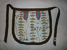 Vintage Chefs/ Kitchen/ Cooking Apron Game Fish and Fly Fishing/Rods Pattern