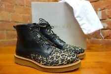 JIMMY CHOO 'Halden' woven leopard ankle boots. NEW & BOXED net a porter £850.00