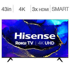 Hisense 43-in. 4K HDR Roku Smart TV 43R61G (Canada Model)