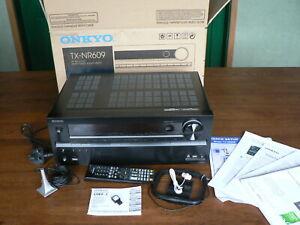 Onkyo TX-NR609 7.2 AV Receiver Ampli-Tuner + Audyssey Calibration  + USB adaptor