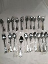 LOT NEW 20 PCS Oneida Northland Stainless Spoons Unknown Pattern