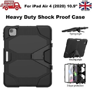 Tough Shockproof Armour Heavy Duty Stand Case For iPad Air 4 10.9in A2324/A2072