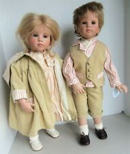 "Hildegard Gunzel WPM 21"" Pair of Dolls MARIE-CHRISTIN & TOBIAS GEORG in Boxes"