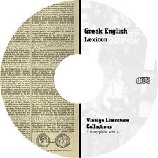 * GREEK ENGLISH LEXICON COLLECTION * 80 RARE BOOKS on DVD * GRAMMAR LINGUISTICS