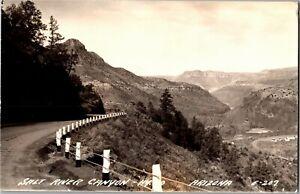 RPPC View of Salt River Canyon from Hwy. 60 AZ Vintage Postcard X37