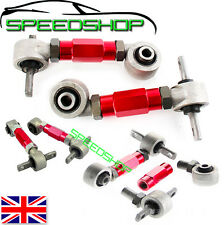 RED HONDA REAR UPPER CAMBER ARM KIT  CIVIC 92-95 EG EK CRX ACURA INTEGRA DEL SOL