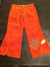 Girls Embroidered Oilily Pants - Orange size 128 Cute! Girls 7/8