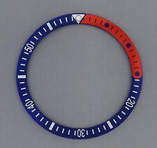 "1/4 Red & Blue ""Pepsi"" Bezel Insert fits Seiko 6105, 6306, 6309, 7002, & SKX007"