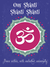 Om Shanti Metal Sign, Peace, Sanskrit,Yoga, Spiritual, Inspirational Quote