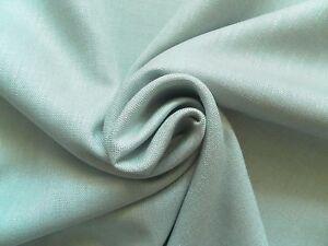 Andrew Martin Curtain Fabric TREK 3.7m Powder Blue Plain Linen Mix Design 370cm