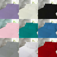 Thermal Flannelette 100% Soft Brushed Cotton Fitted Bed Sheet OR Pillow Cases