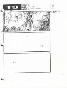 Terminator 3 original production used TX storyboard sheet includes Lifetime COA