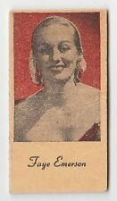 American US Engrav-O-Tints Weighing Weight Machine Card US Actress Faye Emerson