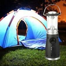 4 LED Wind Up Rechargeable Lantern Lamp Torch Bright Light Camping + Battery