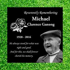 Large 12x12  Headstone, tombstone for Human, Laser Engraved on the Grave Marker