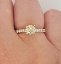 Ladies Diamond Ring 14ct Rose Gold Cushion Cut Diamond Size L NEW RRP $6600