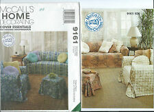 M 9161 sewing pattern SLIPCOVERS Sofa Chair Ottoman PILLOWS sew Furniture THROWS