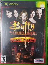 XBOX BUFFY THE VAMPIRE SLAYER CHAOS BLEEDS VIDEO GAME ORIGINAL CASE MANUAL DISC