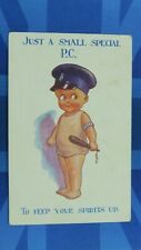 WW1 Military Comic Postcard 1916 PC Police Special Truncheon Duty Armband