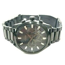 NIXON THE BULLET BLACK STAINLESS STEEL CHRONOGRAPH VERY RARE WATCH $299