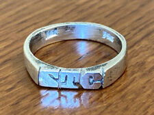 Sterling Silver Initial Ring STC Size 6.5