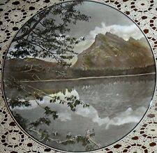 Royal Doulton Collectible China Plate, Vermilion Lake Mt Rundle Banff Nat'L Park