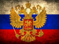 RUSSIA WITH CREST  FLAG Russian Moscow socialist communist flags