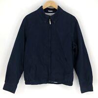 Brooks Brothers 346 Mens Size Large Harrington Golf Bomber Jacket Navy Cotton