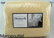 Charter Club Damask Quilted Solid Full / Queen Coverlet & Shams Set Sunglow