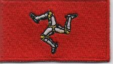 Embroidered ISLE OF MAN Triskelion Flag Iron on Sew on Patch Badge HIGH QUALITY