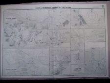 "1948 CUBA East Coast PORTS & ANCHORAGES Navigation Sea MAP Chart 28"" x 41"" C29"
