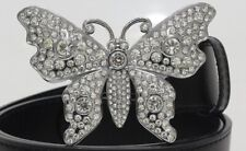 Cut Cz 925 Silver Women's Buckle Beautiful Butterfly Design With Brilliant Round