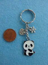 Cutie Panda I Love You Keyring Enamel Bag Charm Birthday Gift Present # 77