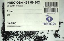 1440 Preciosa Czech Crystal Bicone Beads 3mm Jet black, full package