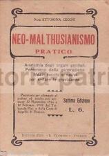 MEDICINA_CONTRACCEZIONE_COME EVITARE LA GRAVIDANZA_MALTHUS_RARA ANTICA EDIZIONE