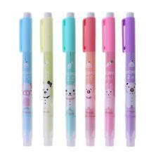 6Pc Cartoon Cute Creative Focus Stud Highlighter Marker Pen Office School Supply